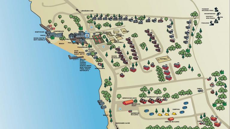 Map over Käringsund Resort & Conference