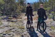 Det är lätt att hitta omarkerade fina MTB rutter på Åland