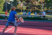 Tennis med familjen