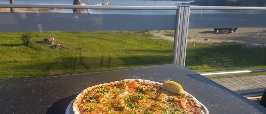 Pizza med utsikt
