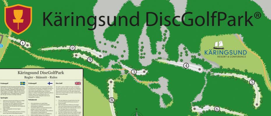DiscGolf i skön skogsterräng